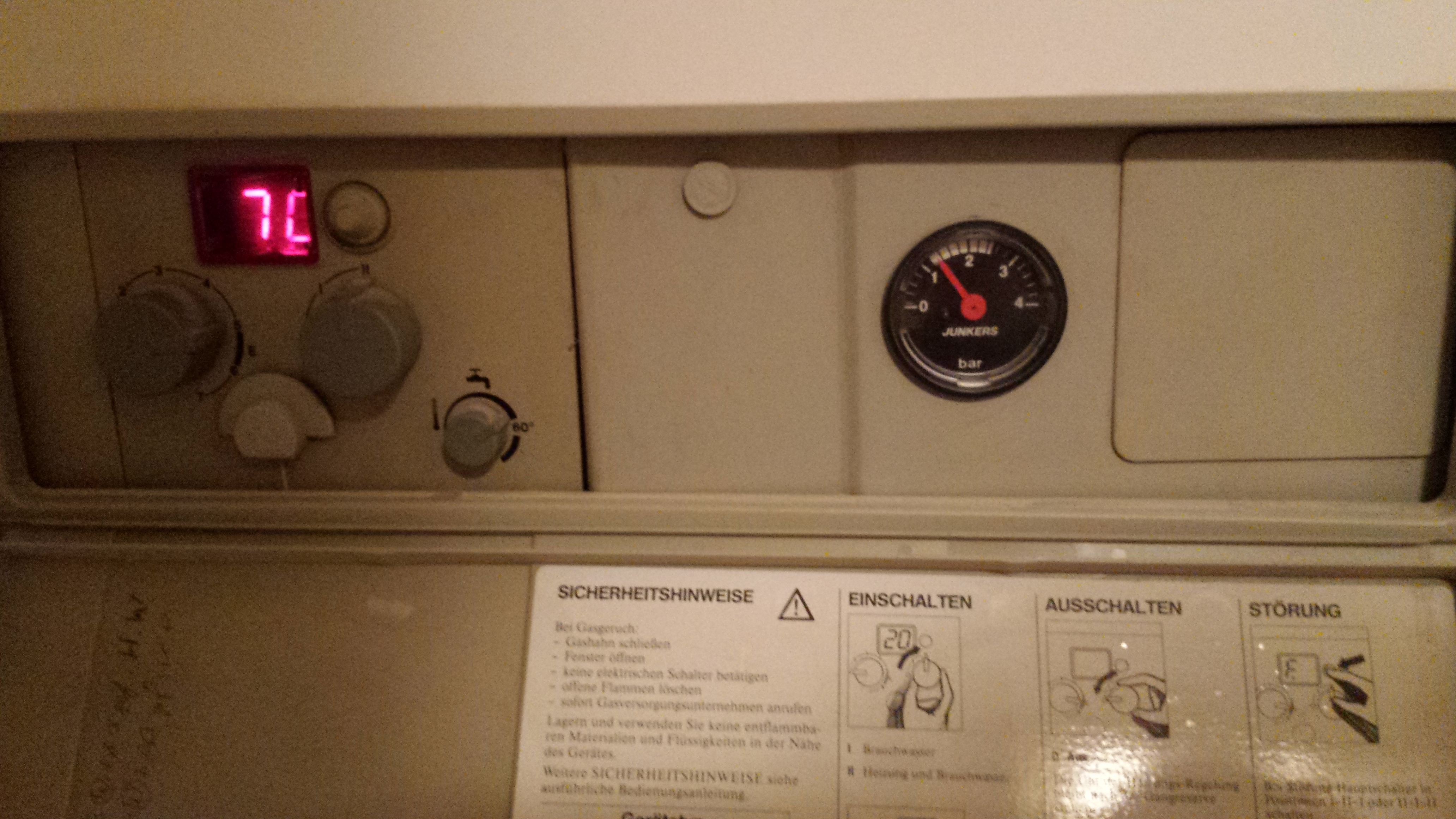 Problem mit Heizung - Junkers Gastherme | wer-weiss-was.de