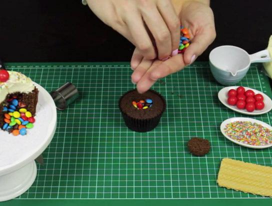 Schritt 2 - Cupcakes befüllen