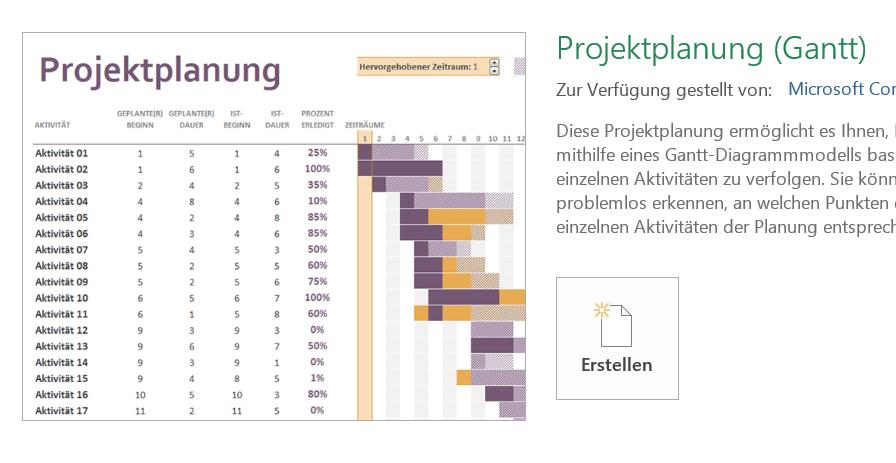 Excel Vorlage Projektplanung Gantt ergänzen   wer-weiss-was.de