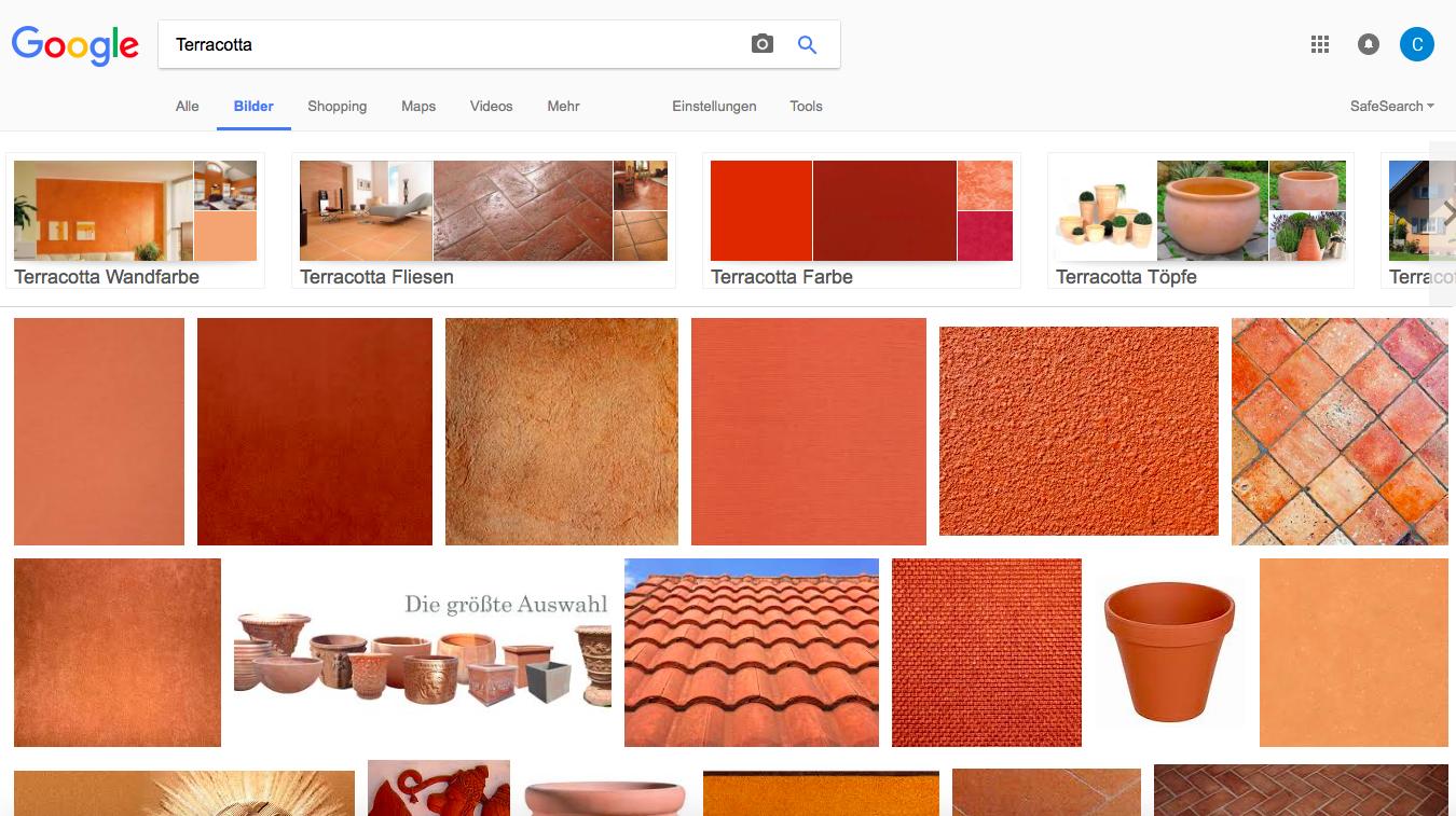 terracotta und vanille farbton selbst mischen wer weiss. Black Bedroom Furniture Sets. Home Design Ideas