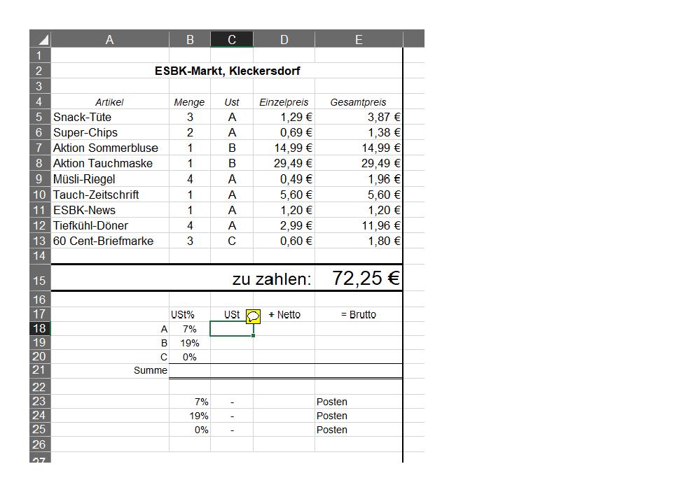 Was Für Eine Formel In Excel Sollte Hier Rein Wer Weiss Wasde