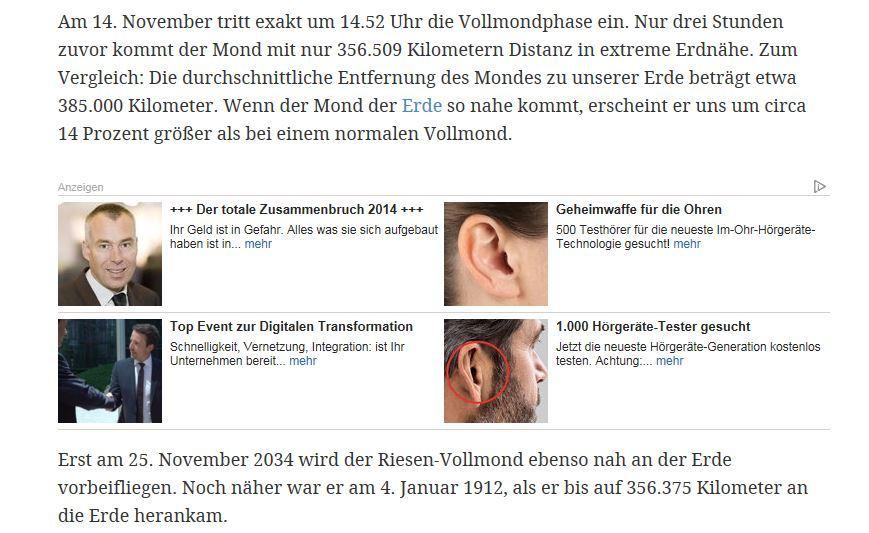 web.de - Zusammenbruch 2014