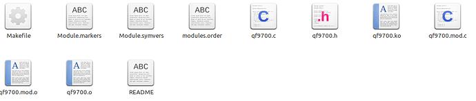 Inhalt des Linux-Ordners