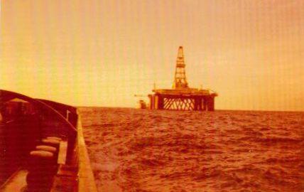 1976 Sedco 702 im Schlepp vor Bahia 1
